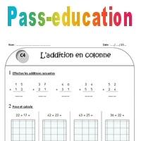 Addition en colonne sans retenue ce1 exercices - Soustraction sans retenue ce2 ...