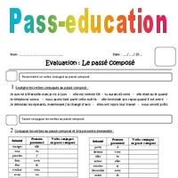 Passé composé - Cm1 - Evaluation - Pass Education