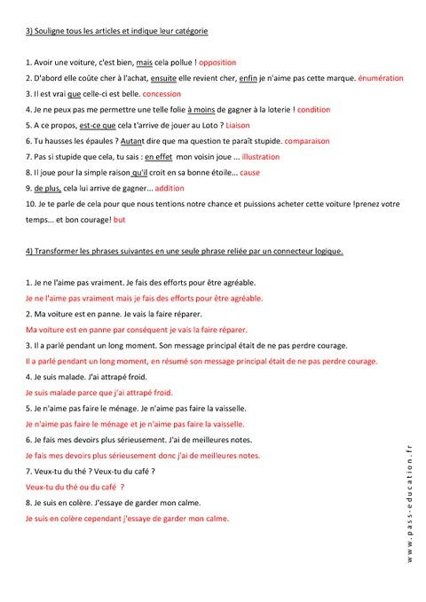 Connecteurs spatiaux temporels et logiques 4 me for Les portes logiques pdf