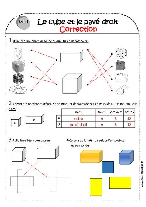 exercices sur les cubes