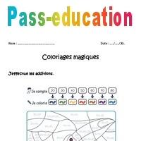 Coloriage Magique Unites Dizaines Centaines Ce2.Additionner Des Dizaines Cp Ce1 Coloriage Magique A Imprimer