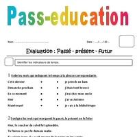 Passé - présent - futur - Ce1 - Evaluation - Pass Education