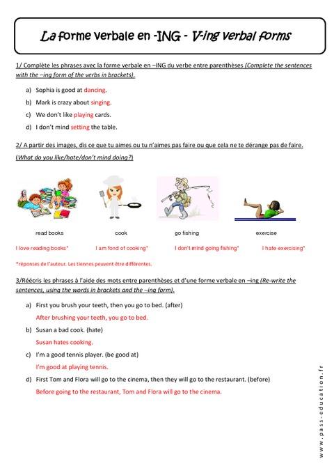 les adjectifs avec ing ou ed en anglais pdf