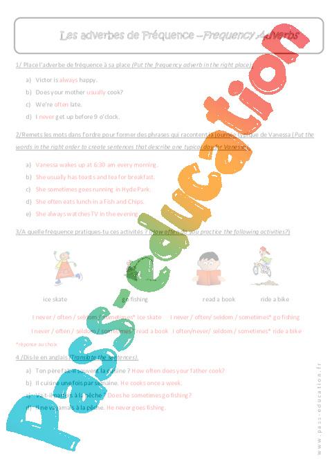 les adverbes en anglais pdf