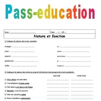 Fonction - Nature - 6ème - Exercices à imprimer de ...