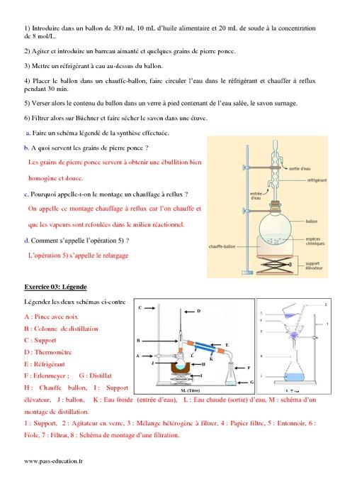 Synthèse d'espèces chimiques - 2nde - Exercices corrigés ...