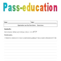 Fonctions Operations 1ere S Exercices Corriges Pass Education