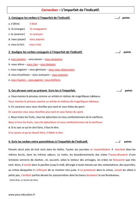 Telecharger Evaluation Imparfait 6eme A Imprimer Pdf Imparfait