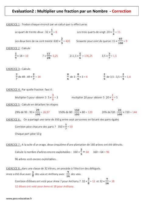 Multiplier un nombre entier ou d cimal par une fraction - Exercice corrige de table de karnaugh pdf ...