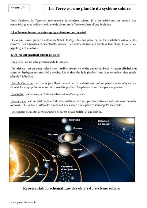 Planetes Du Systeme Solaire Exercices Cm1 Sciences