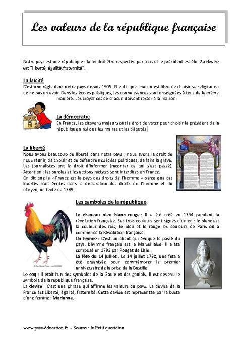 Afbeeldingen van Les symboles de la republique francaise cm2