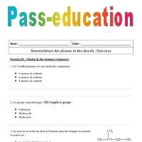 exercices corrigés de nomenclature des alcools pdf