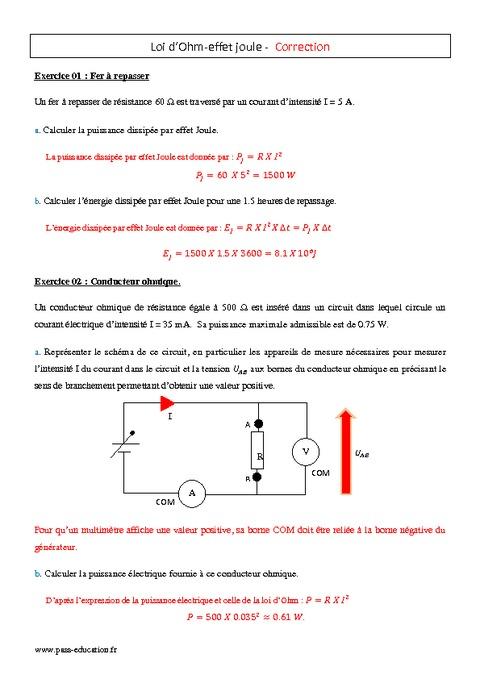 effet joule pdf