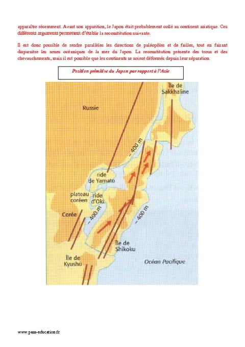 Tectonique des plaques - 1ère S - Exercices sur la naissance - Pass Education