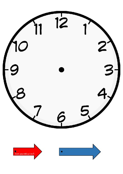 horloge apprendre lire l 39 heure cp ce1 cycle 2 pass education. Black Bedroom Furniture Sets. Home Design Ideas