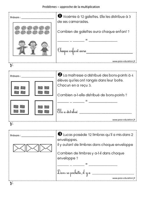 probl mes multiplicatifs cp exercices sur la multiplication pass education. Black Bedroom Furniture Sets. Home Design Ideas