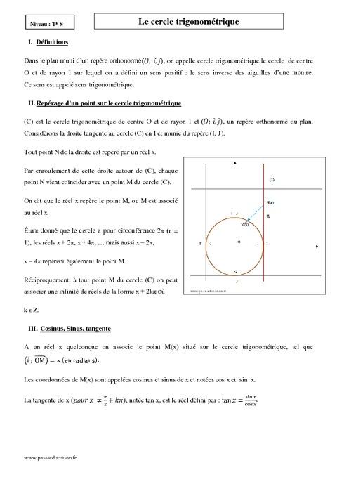 cours mathematiques tle sm pdf