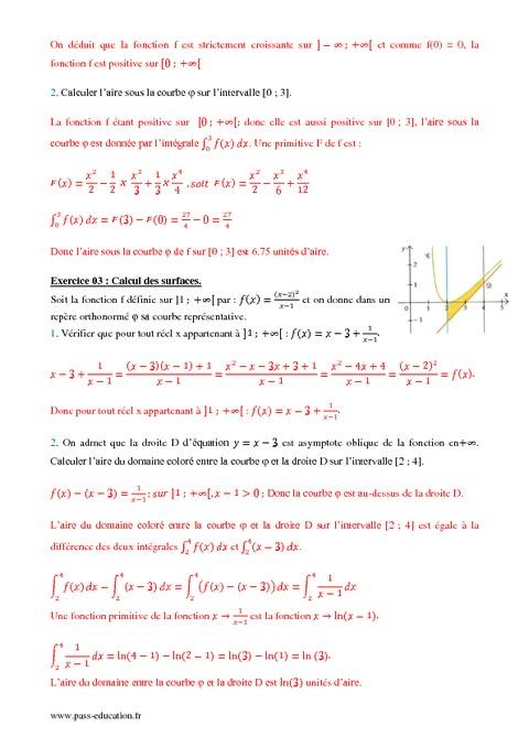Primitives - Intégrales - Terminale S - Exercices sur les ...