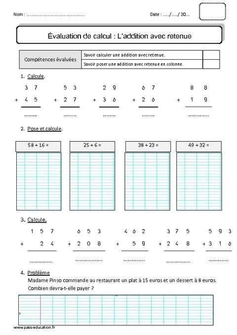 Addition et soustraction ce1 colorier les enfants - Addition et soustraction ce1 ...