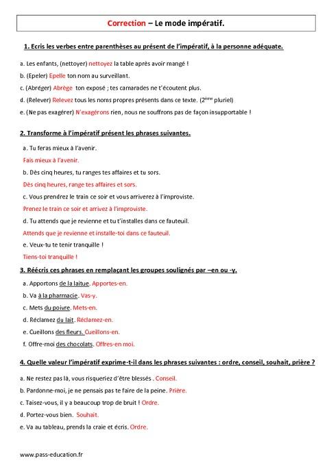 Imp ratif pr sent 5 me contr le avec le corrig pass - Exercice corrige de table de karnaugh pdf ...