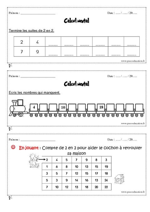 Sehr Calcul mental - Cp - Exercices et bilan - Semaine 5 à 8 - Pass  JS04