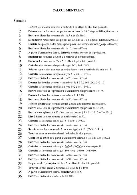 Fabuleux Progression - Calcul mental - CP - Pass Education JS41
