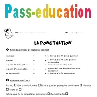 Ponctuation - Ce1 - Exercices - Pass Education
