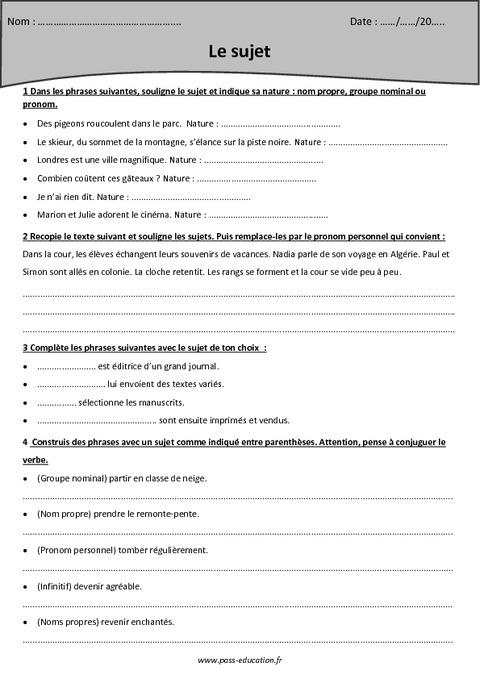Sujet cm2 exercices avec le corrig pass education - Exercice corrige de table de karnaugh pdf ...