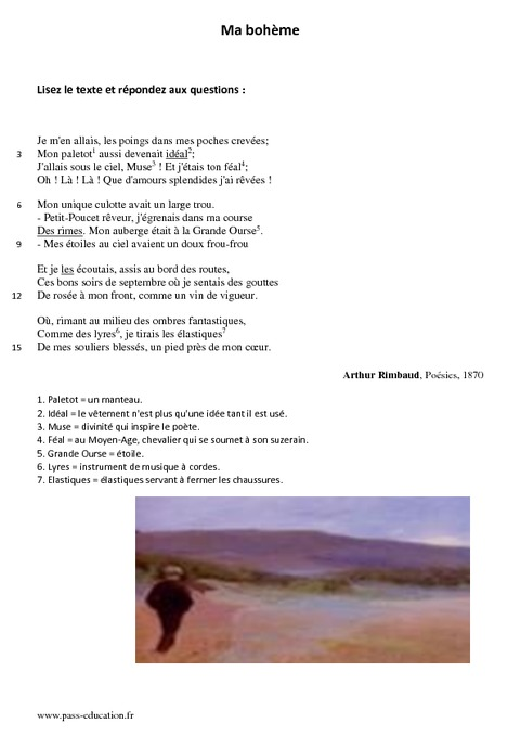 larme rimbaud lecture analytique
