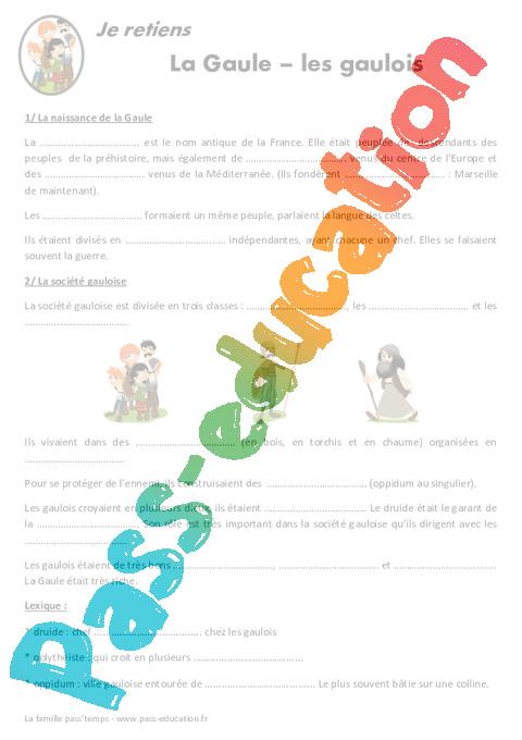 Gaule Gaulois Ce2 Cm1 Lecon Antiquite Pass Education