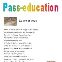 Le Lion Et Le Rat Cm2 Poésie Pass Education