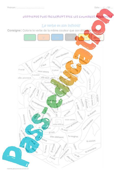 Coloriage magique verbe ce1 - Conjugaison colorier ...