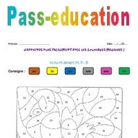 Coloriage Magique M Devant M B P.N Ou M Devant M P B Ce2 Cm1 Coloriage Magique Pass Education