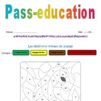 Coloriage Magique Registre De Langue.Differents Niveaux De Langage Cm2 Coloriage Magique Pass Education