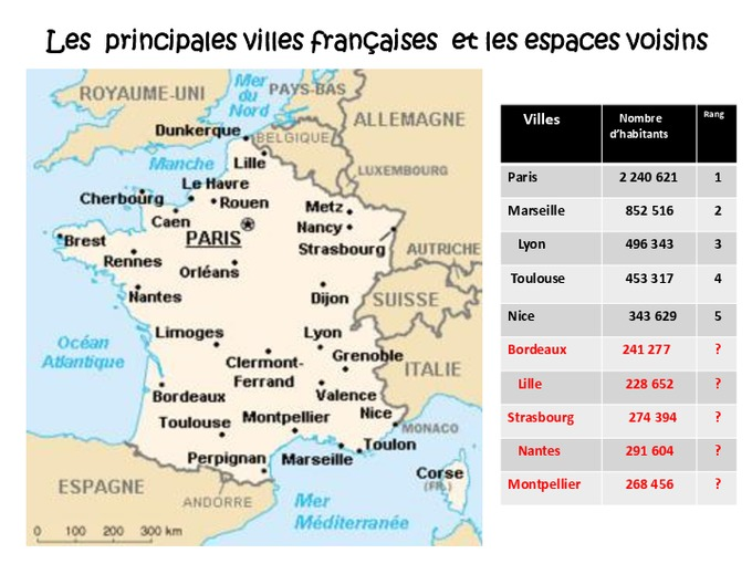 grandes villes fran aises carte de france ce2 exercices pass education. Black Bedroom Furniture Sets. Home Design Ideas