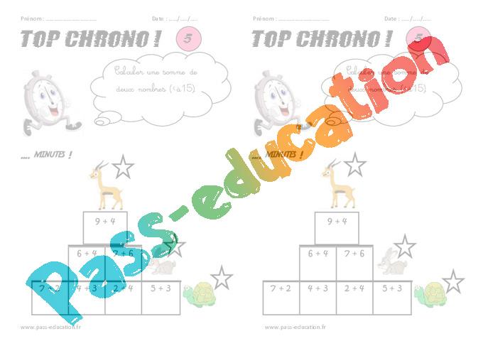 Connu CP - Calcul mental - Top chrono - Rituel - Pass Education RN03