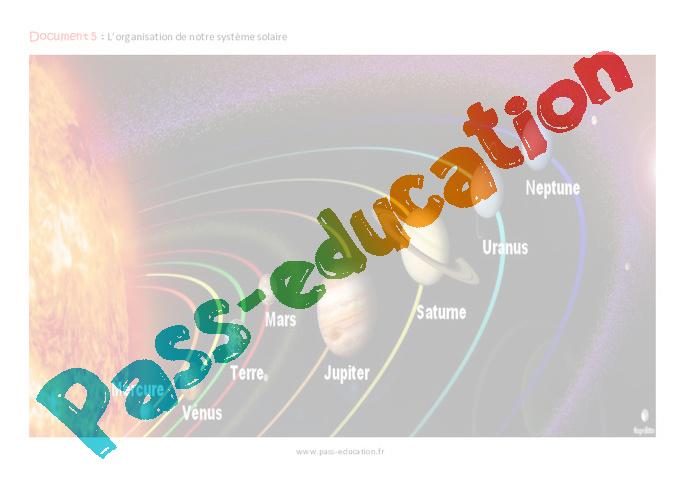 séance système solaire cm1