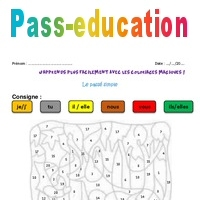 Coloriage Code Simple.Passe Simple Cm2 Coloriage Magique Pass Education