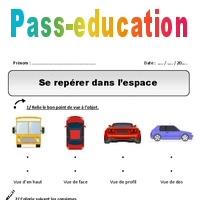 Coloriage Reperage Dans Lespace.Se Reperer Dans L Espace Cp Exercices Pass Education