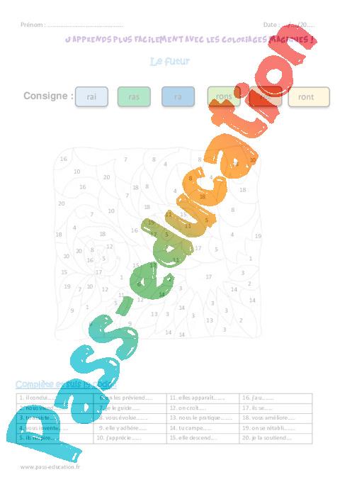 Futur Cm2 Coloriage Magique Pass Education