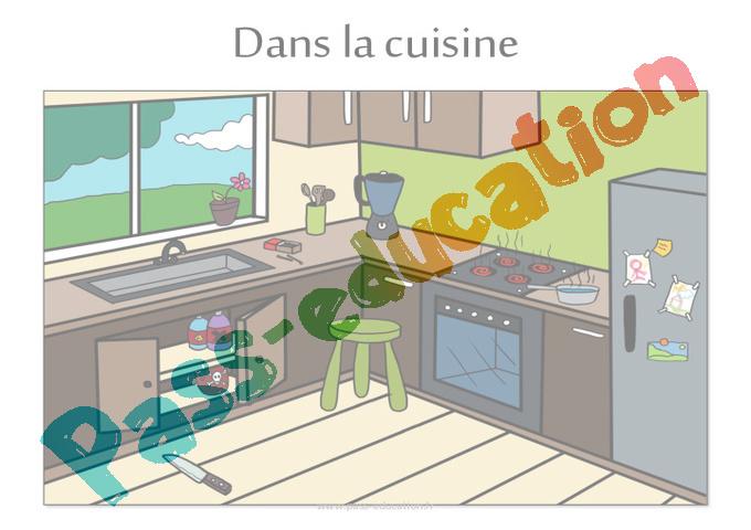 Dangers domestiques cm1 cm2 fiche de pr paration for La cuisine dans le bain avis