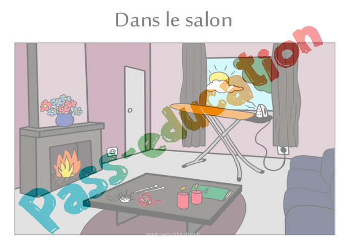 dangers domestiques cm1 cm2 fiche de pr paration pass education. Black Bedroom Furniture Sets. Home Design Ideas