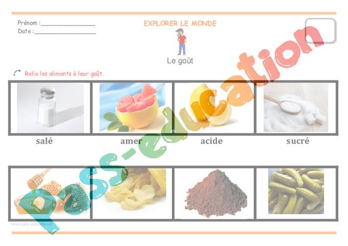 Go t moyenne section fiche de pr paration pass education - Pamplemousse amer ou acide ...