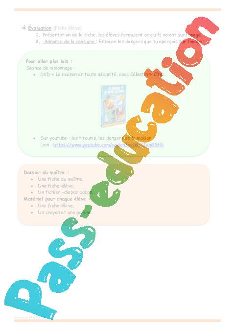 Coloriage Mai Danger Ecole.Dangers Domestiques Grande Section Fiche De Prep Pass Education
