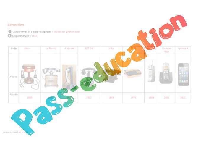 evolution du t l phone cm1 cm2 plan de s quence pass education. Black Bedroom Furniture Sets. Home Design Ideas