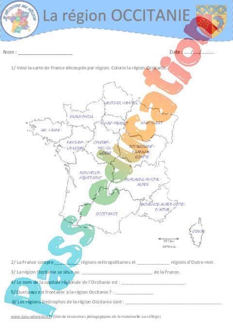 Occitanie - Cm1 - Cm2 - Je découvre ma région - Pass Education