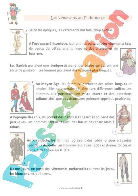 Préparation Vêtements De Fiche Cp Education Pass HW9Ye2IED