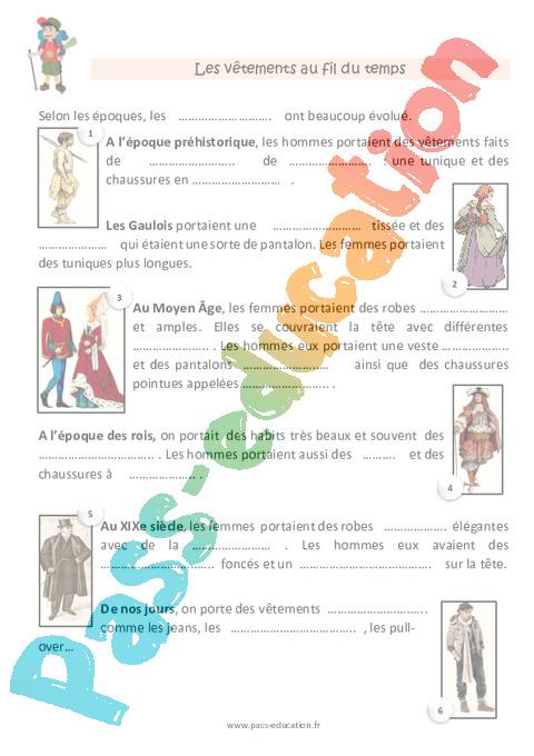 958e3b53de5 Vêtements - CP - Fiche de préparation - Pass Education