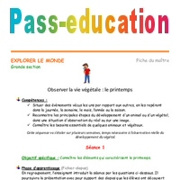 Coloriage Printemps Bout De Gomme.Printemps Grande Section Fiche De Prep Seances Pass Education