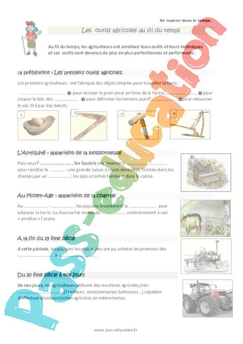 outils agricoles autrefois et aujourd hui ce2 s ances pass education. Black Bedroom Furniture Sets. Home Design Ideas